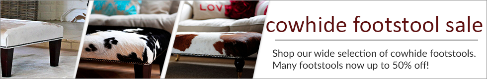 Cowhide Footstools On Sale!